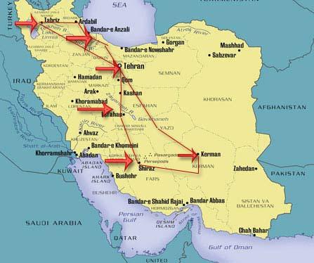 map_iran_ramsar_anzali_rasht_khazar_caspian_yazd_bam